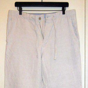 Gap Men's White Linen Pants Size Small